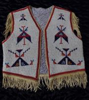 Fully beaded vest, Lakota/Sioux