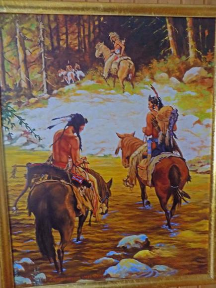 """Crossing medicine lodge"" - dipinto olio su tela"